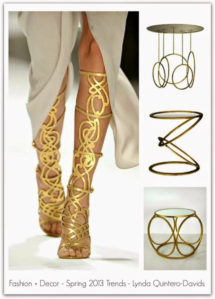 FASHION DECOR TRENDS - GOLD CONNECTION - Lynda Quintero-Davids - Focal Point Styling