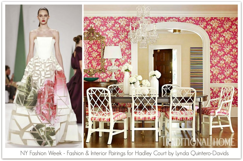 FASHION WEEK - FASHION DECOR PAIRINGS 3 - Lynda Quintero-Davids for Hadley Court ss2015