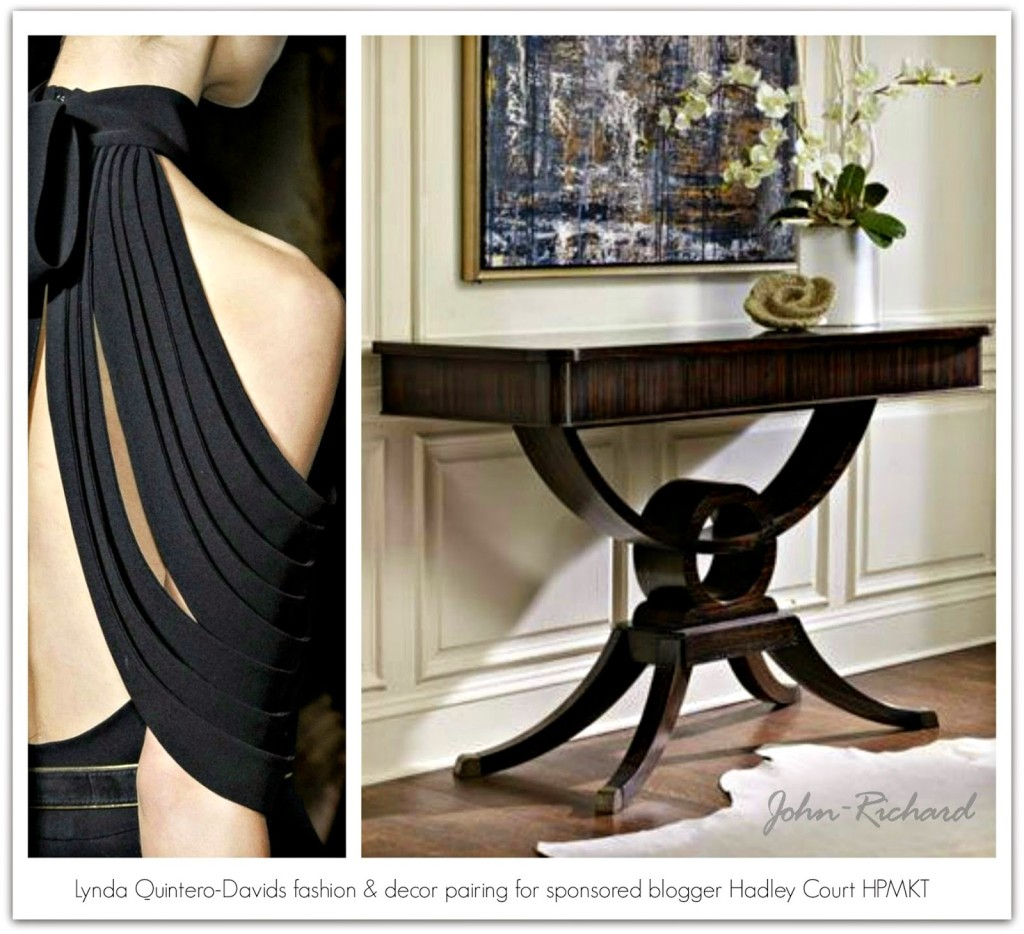 Lynda Quintero-Davids fashion decor pairing for sponsored blogger Hadley Court HPMKT JRC furniture