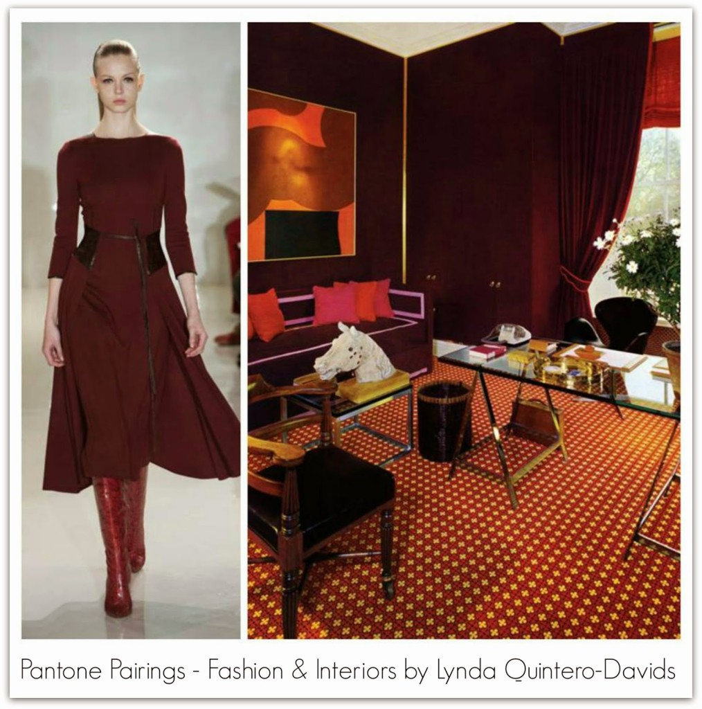 PANTONE PAIRING - FASHION DECOR - Lynda Quintero-Davids for Hadley Court - Sangria - Marsala