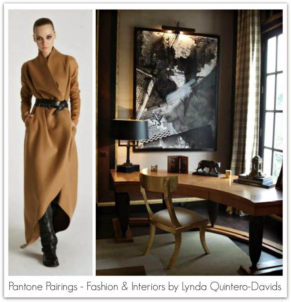 PANTONE PAIRING WORKSPACE - FASHION DECOR - Lynda QUintero-Davids for Hadley Court - Camel