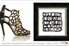 Lynda Quintero-Davids fashion decor pairing 2 for sponsored blogger Hadley Court HPMKT PS art